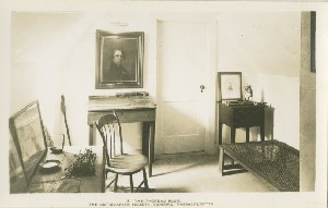 The Thoreau room,  	The Antiquarian Society, Concord, Massachusetts; early to mid- 20th century