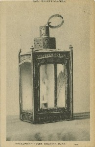 Paul Revere's Lantern,  	Antiquarian House, Concord, Mass.; early to mid- 20th century