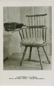 Chair (from the Old  	Manse) in which Emerson wrote 'Nature' Concord Antiquarian Society, Concord, Massachusetts; early to mid- 20th century