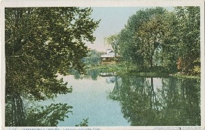 Concord River, from North  	Bridge, Concord, Mass.; 1908 (copyright date)