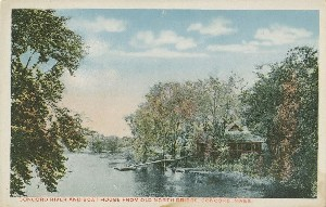 Concord River and Boat  	House from Old North Bridge, Concord, Massachusetts; early 20th century
