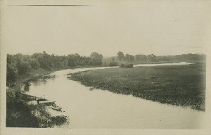 [Sudbury River from the  	Fitchburg Railroad bridge]; circa 1912 (note date)