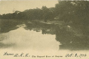 The Concord River at  	Sunrise; circa 1906 (postmark date)
