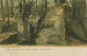 Emerson's Grave,  	'Sleepy Hollow', Concord, Mass.; 1905 (copyright date)