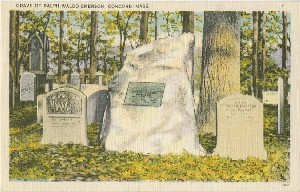Grave of Ralph Waldo  	Emerson, Concord, Mass.; early to mid- 20th century
