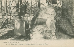 Emerson's Grave,  	'Sleepy Hollow', Concord, Mass.; early 20th century