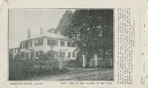 Emerson House,  	Concord, the Home of Ralph Waldo Emerson; late 19th century - early 20th century