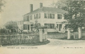 Concord, Mass. Home of  	R.W. Emerson; circa 1908 (postmark date)