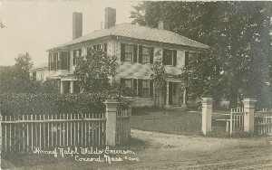 Home of Ralph Waldo  	Emerson, Concord, Mass.; circa 1917 (note date)