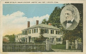 Home of Ralph Waldo  	Emerson, essayist and poet, Concord, Mass.; early 20th century
