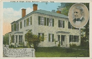 Home of Ralph Waldo  	Emerson, Concord, Mass.;