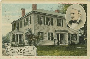 The 'Concord  	Sage' and philosopher, home of Ralph Wald Emerson, Essayist, and poet, Concord, Mass. Born 1803, Died 1882.; 1911 (postmark date)