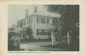 Home of Ralph Waldo  	Emerson, Concord, Massachusetts; early to mid- 20th century