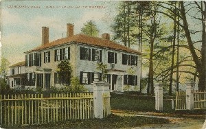 Concord, Mass. Home of  	Ralph Waldo Emerson; early 20th century