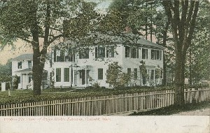 The Home of Ralph Waldo 	 Emerson, Concord, Mass.; early 20th century