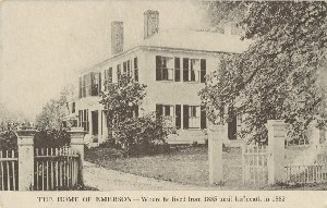 The Home of Emerson;  	early 20th century