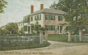Concord, Mass., Home of 	 Ralph Waldo Emerson; early 20th century
