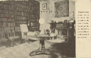 [Emerson's study at  	Emerson House]; circa 1917 (postmark date)