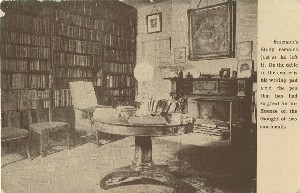 [Emerson's study at  	Emerson House]; circa 1911 (postmark date)