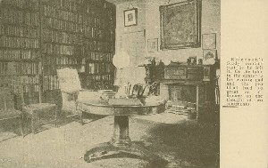 [Emerson's study at  	Emerson House]; early 20th century
