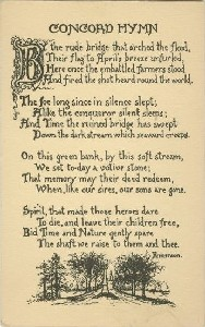 Concord Hymn; early 20th  	century